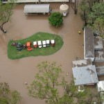 Moura Golf Course in flood
