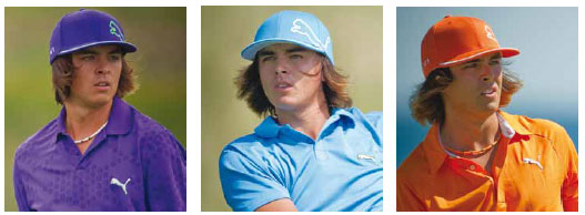 Rickie Fowler: Colour and movement