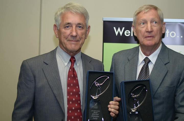 2014 ISPS HANDA World Blind Championship Winner Malcolm Elliott and caddy Neil Walker from Western Australia
