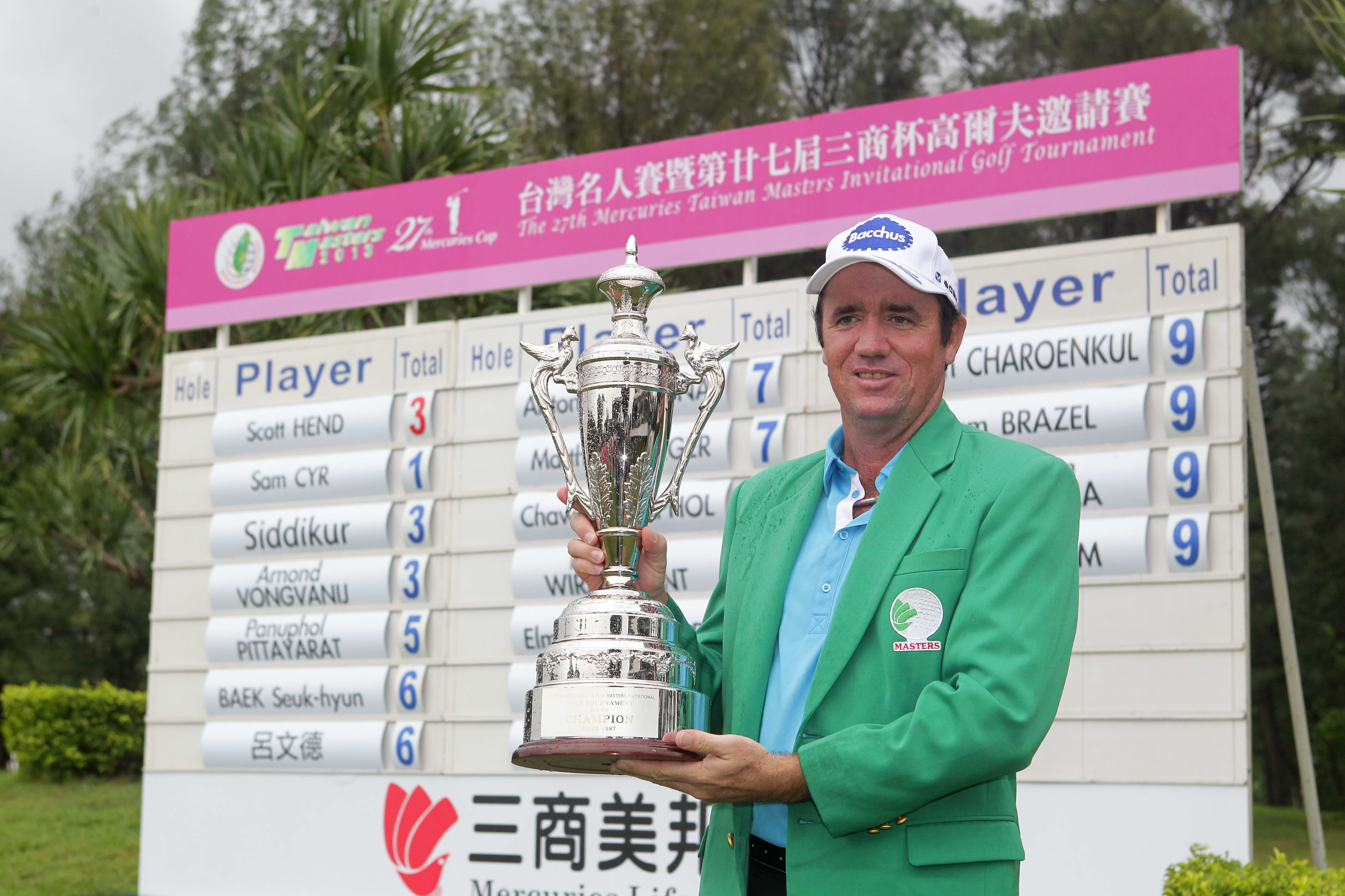 Australia's Scott Hend winning his fourth Asian Tour title at the Mercuries Taiwan Masters