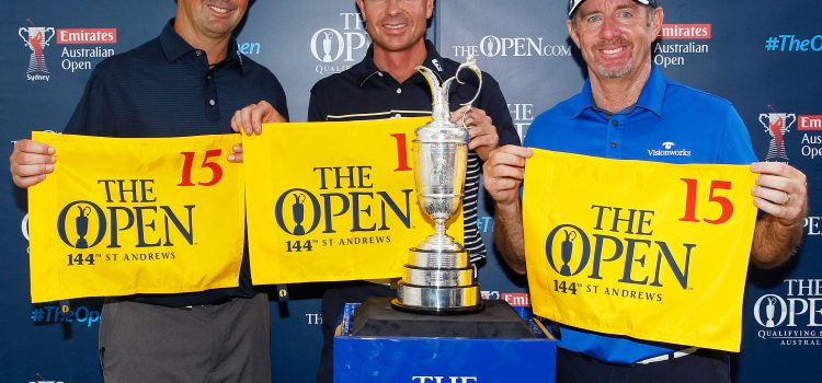 Pampling, Rumford and Chalmers qualify for The Open
