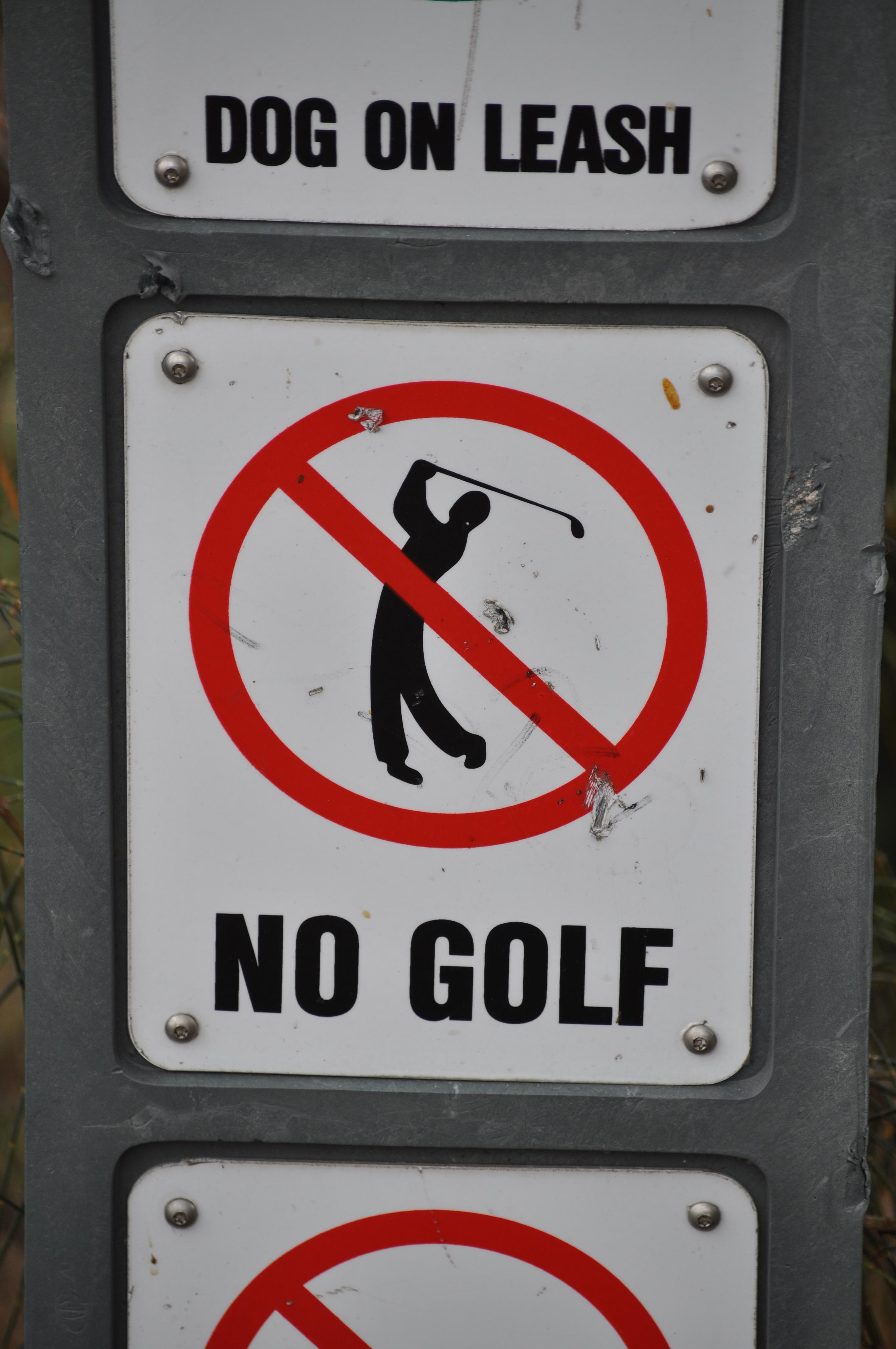 No Golf