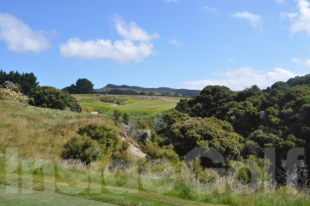 Cape Kidnappers 8th  tee