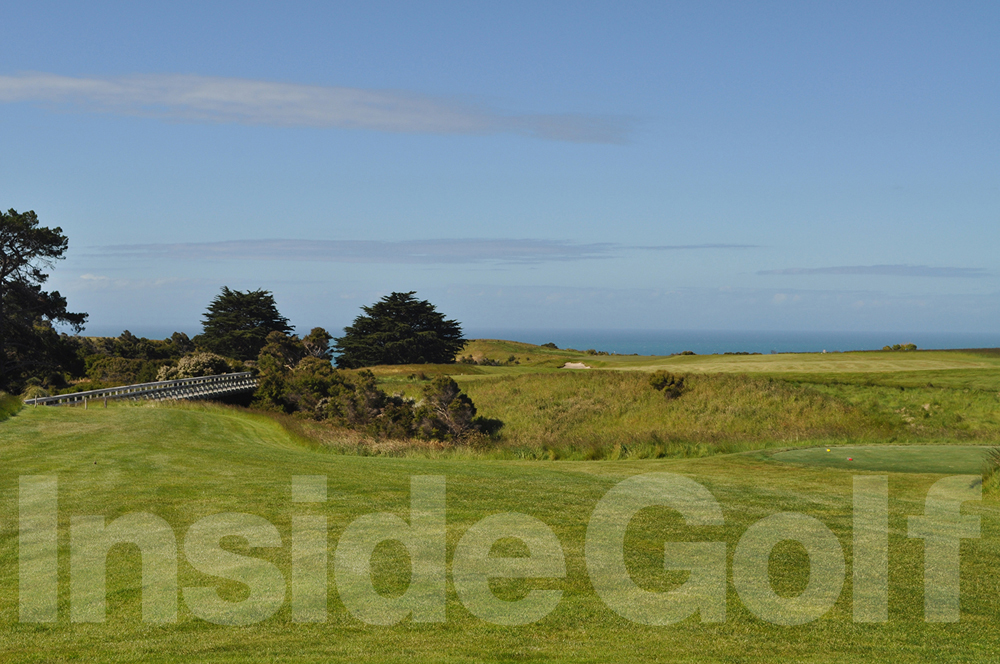 Cape Kidnappers 10th  tee