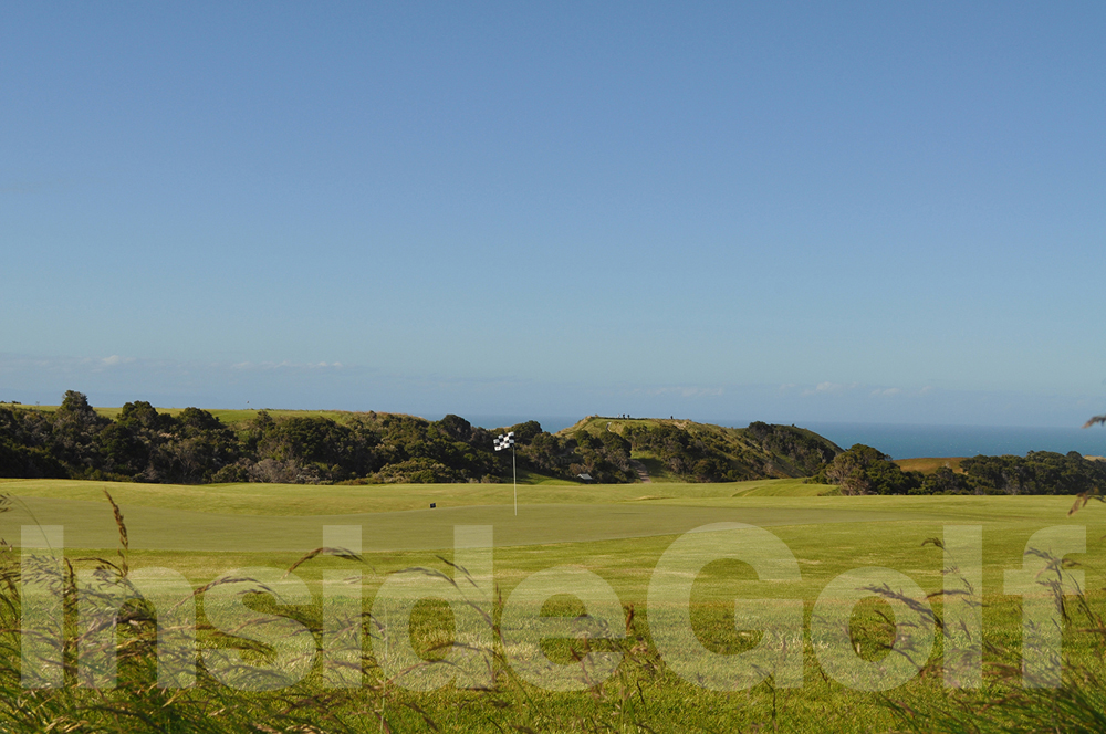 Cape Kidnappers 16th green back