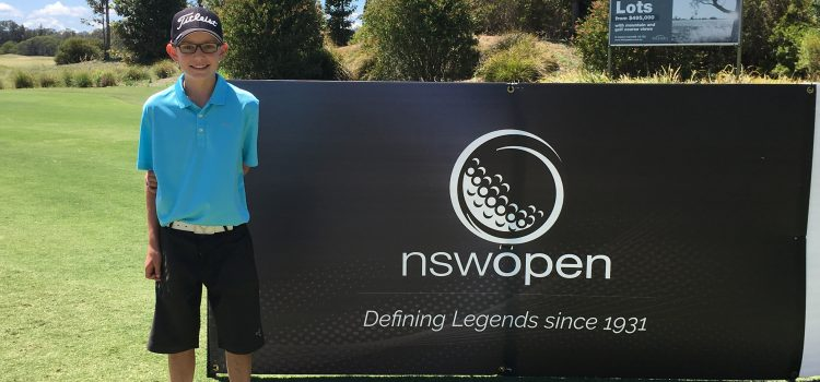 Local boy wins the NSW Open Junior Pro Am