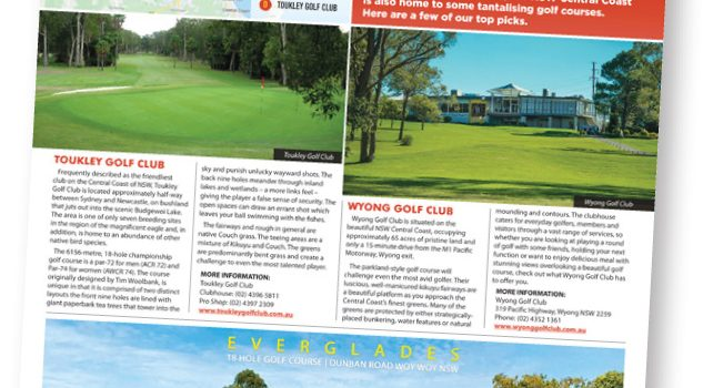 Golf on the NSW Central Coast