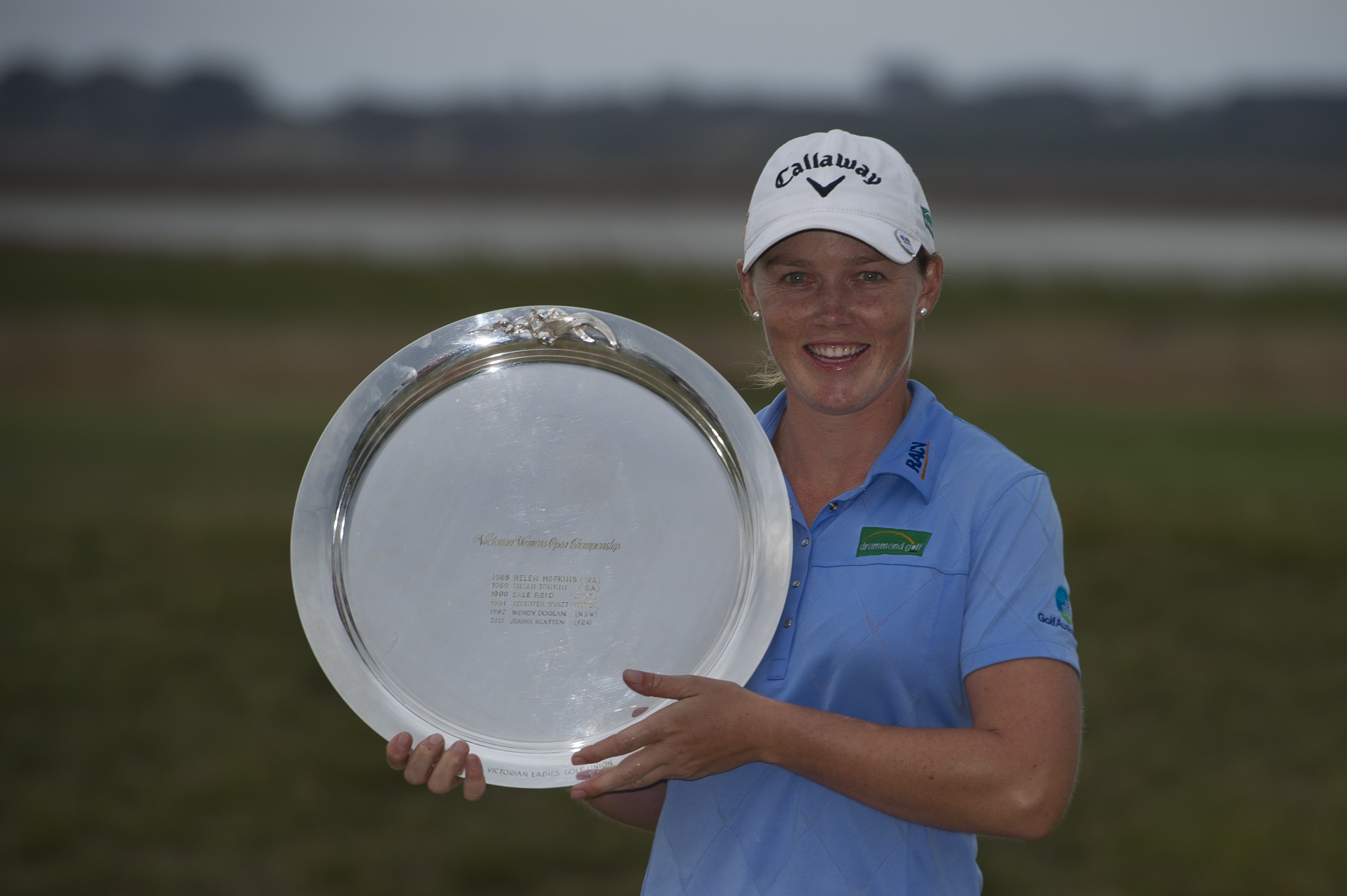 Stacey Keating with Vic Open Trophy