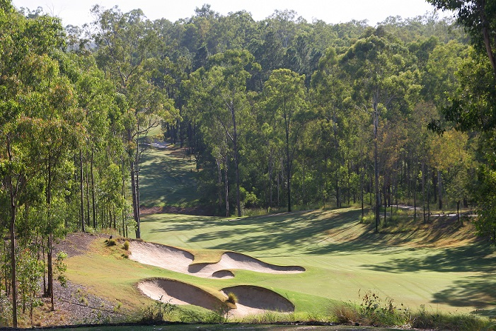 View of the 4th hole at Brookwater Golf and Country Club