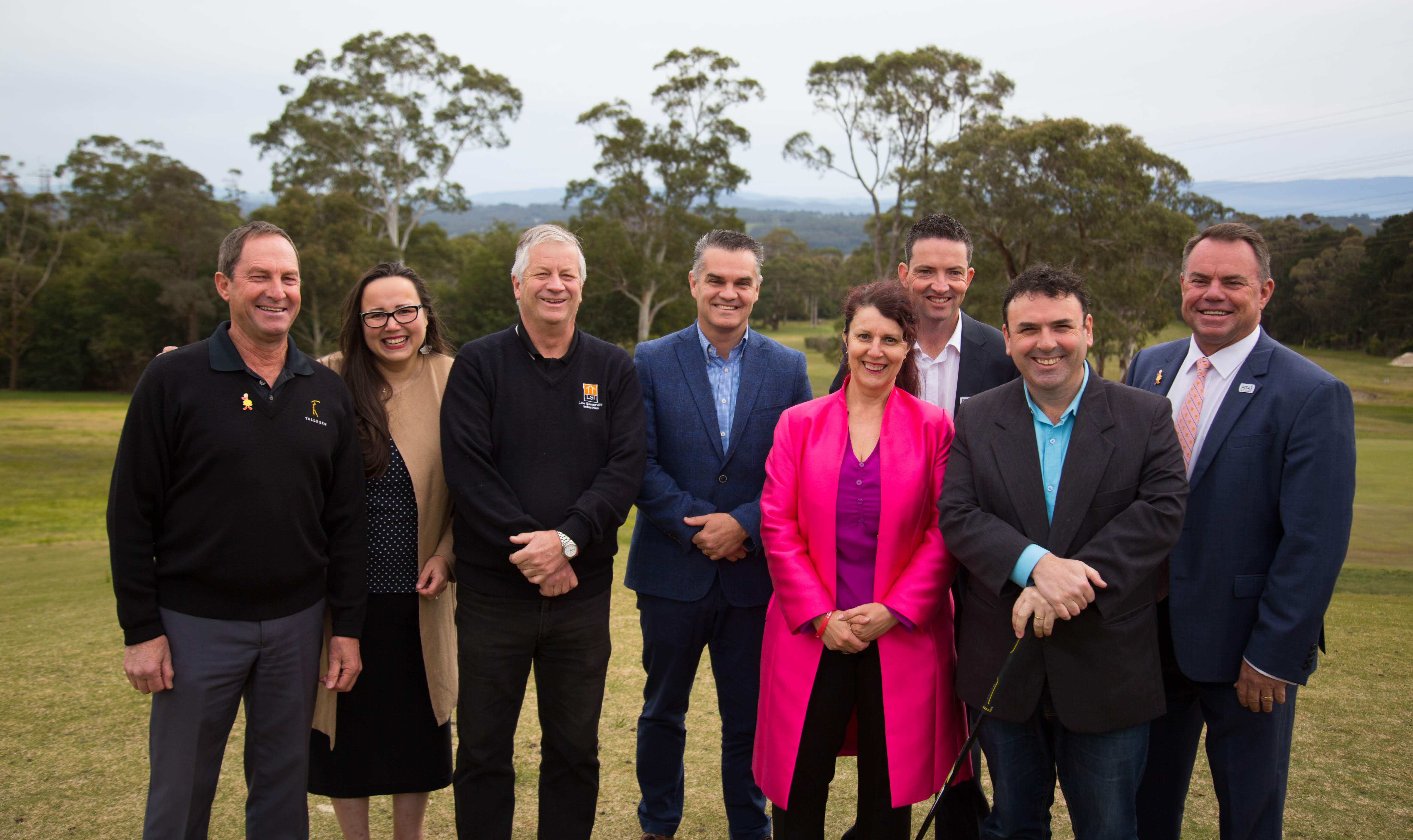 Yallourn Golf Club Vice President Peter Brown, Labor Upper House Member for Eastern Victoria Harriet Shing MP, Latrobe City Councillor Brad Law, Labor candidate for Morwell Mark Richards, Latrob