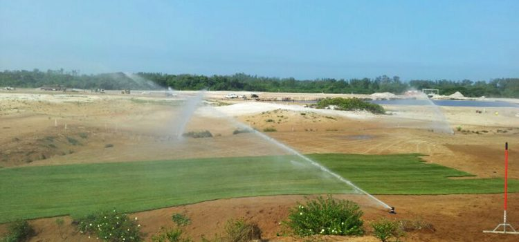 Planting of grass begins on the Rio 2016  Olympic golf course